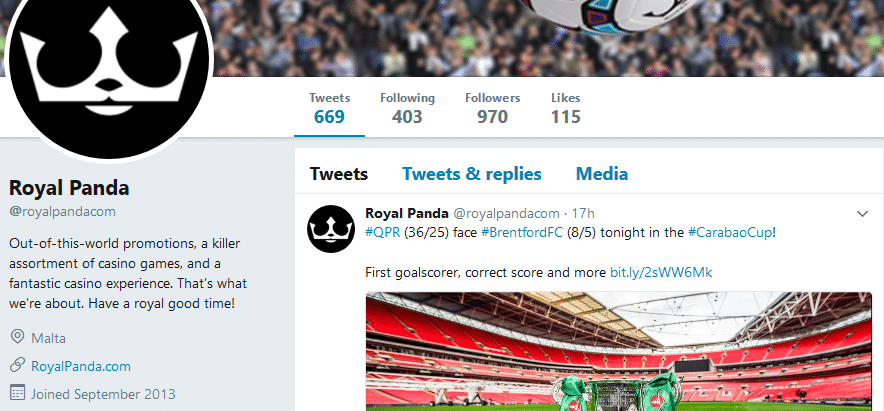 royal panda twitter