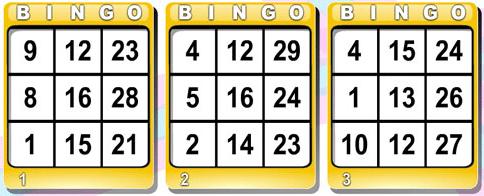 cartela de bingo 30 bolas