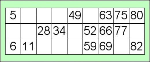 exemplo de cartela de bingo 90 bolas