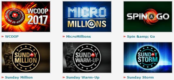 Sempre há torneios acontecendo na plataforma do PokerStars