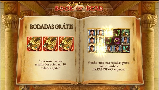 book of dead bônus