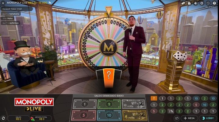 Monopoly no cassino Royal Panda