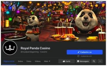 Perfil do Royal Panda cassino no Facebook
