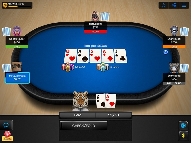 mesa do cassino 888poker