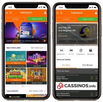 Betsson app é muito bom tanto para iOS como para Android