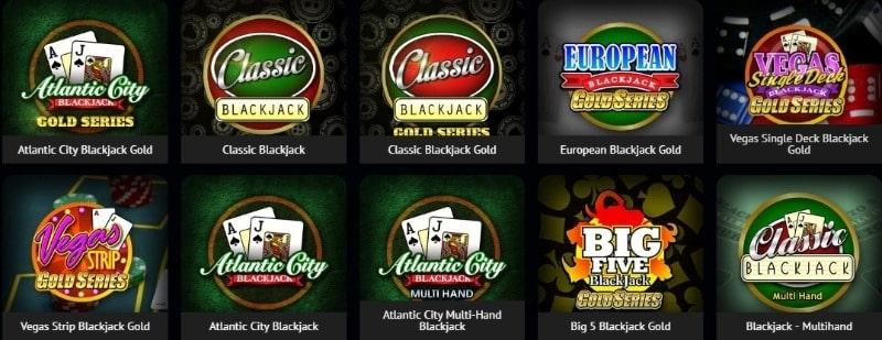 jogar Blackjack no Spin Casino
