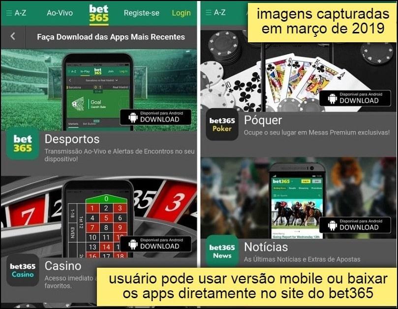 interface do cassino bet365 mobile