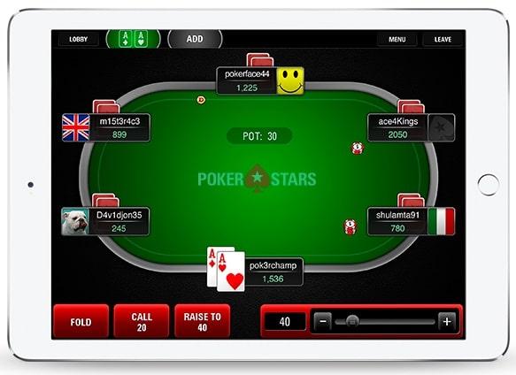 Fãs de poker podem aproveitar o PokerStars no desktop ou mobile.