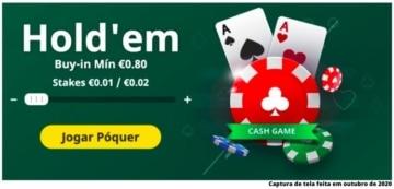 como jogar poker bet365