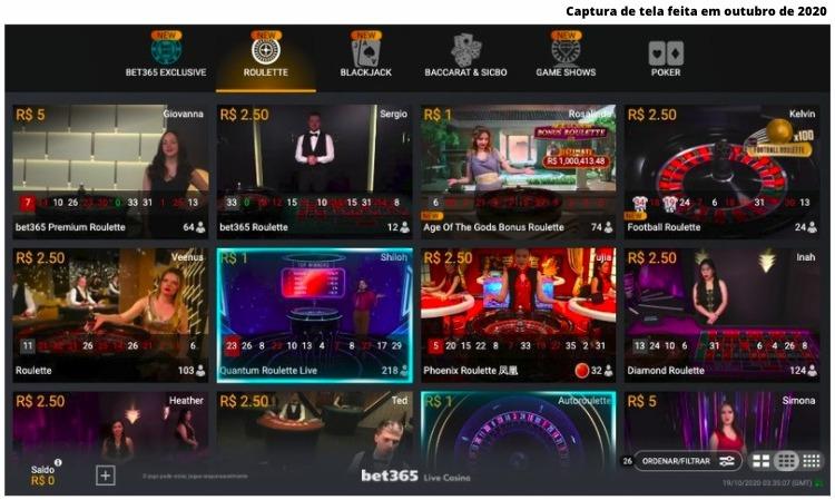 jogos do cassino bet365 ao vivo