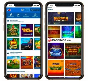 layout do sportingbet cassino no celular