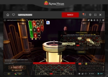 imagem do jogo Lightning Roulette no cassino Royal Vegas