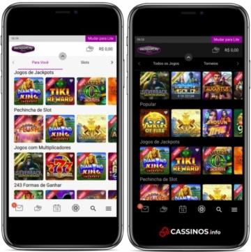 layout cassino jackpotcity mobile