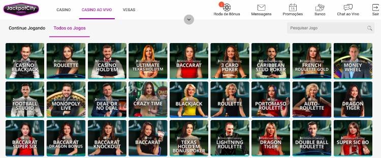 jogos de cassino ao vivo jackpotcity brasil