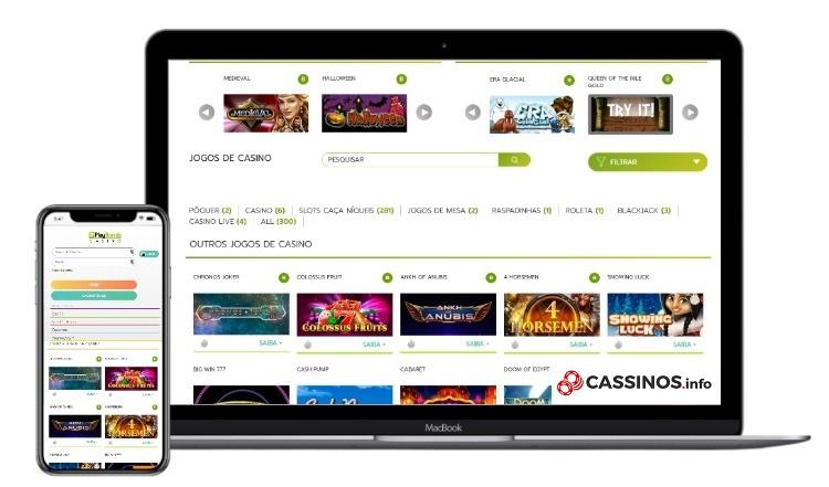 interface do cassino Playbonds mobile e desktop
