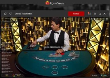 Ultimate Texas Hold'em cassino Royal Vegas