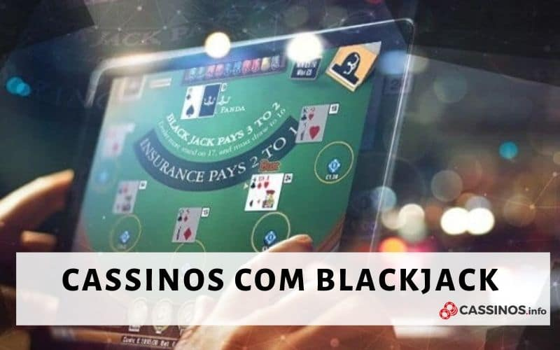 Interface de cassino com jogo blackjack online