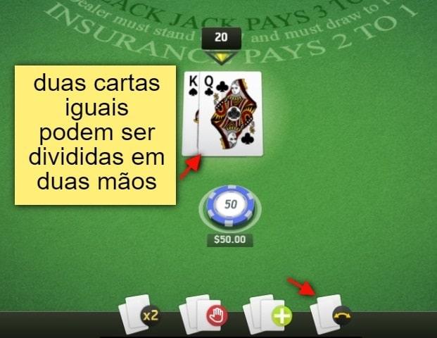 instruções de como jogar blackjack online