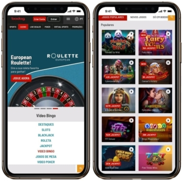 layout do cassino bodog app