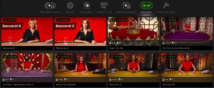 mesas de bacará no cassino ao vivo 888 casino