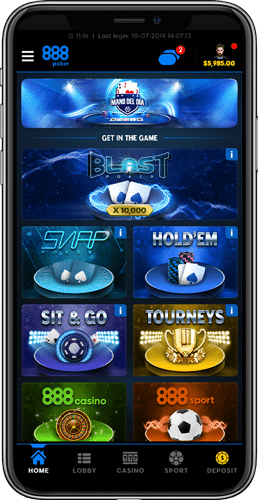 layout 888poker mobile