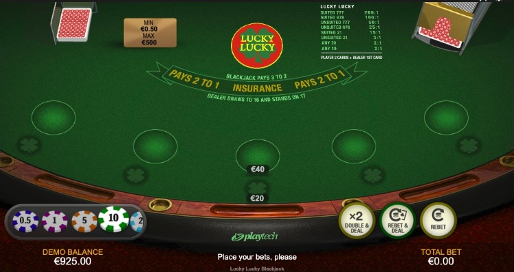 mesa de blackjack lucky lucky