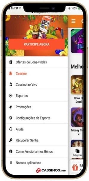 layout cassino com neteller no celular