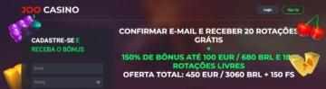 banner do bônus de boas-vindas do Joo Casino
