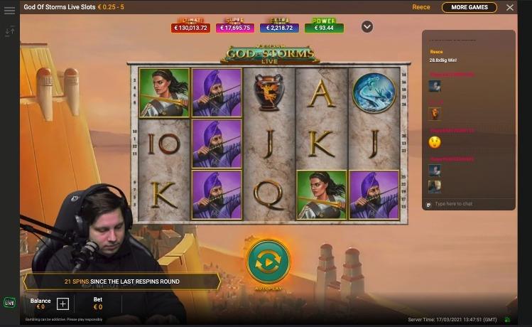 jogo de caça-níquel ao vivo com host
