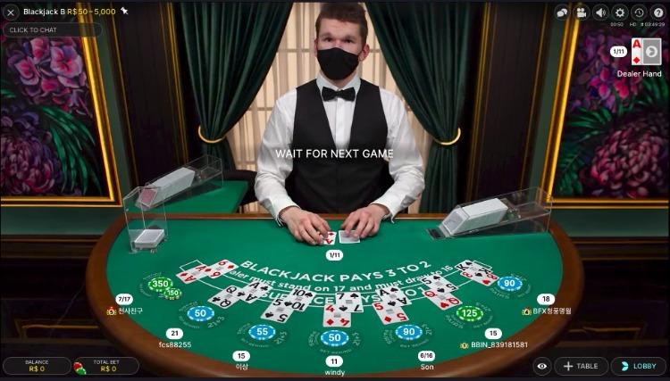 Blackjack live Twin casino