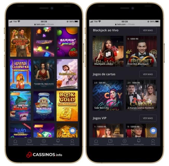 cassino Twin app