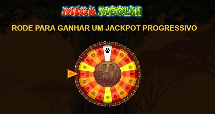 roda de bônus jackpot slot Mega Moolah