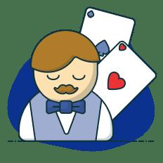 vez do delaer no blackjack online