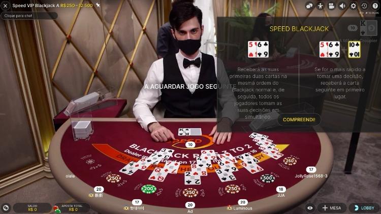 mesa de speed Blackjack no amuletobet Brasil