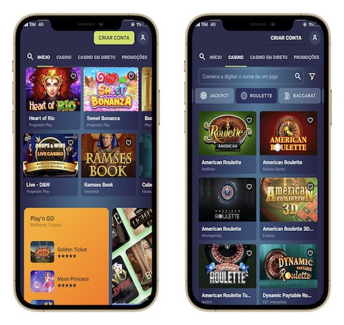 layout do casinoin mobile