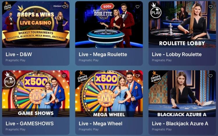 jogos com live dealer no Casinoin Brasil