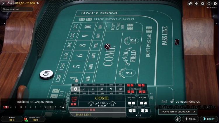 jogo de Craps no casinoin
